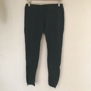Nordstroms Gray Stretch Pants Bottoms Zip Side